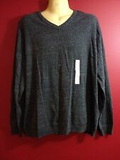 SONOMA Men's Charcoal Gray V-Neck L/S Sweater - Size XL - NWT $45