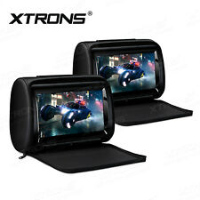 """2 X 9"""" Adjustable Touch Screen Monitor Car Headrest DVD Player HDMI 1080P Video"""