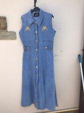 Lovely Ladies Denim Maxi Dress Size 12-14 New