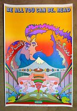 """1969 Original PETER MAX National Library Week Poster - 24""""x36"""", Pristine Cond"""