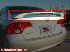 ABS Unpainted OE Style Rear Spoiler Wing+Brake Light for Honda 06-11 Civic 4Door