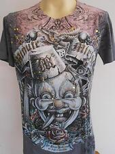 Minute Mirth Deadly Clown Tattoo Men T shirt M