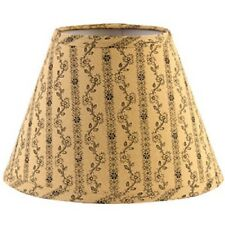"COUNTRY PRIMITIVE RUSTIC BLACK CREAM FLORAL 10"" CLIP-ON LAMP SHADE"