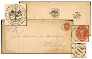 MEXICO ADUANA MARITIMA OFFICIAL PSE APR 1887 OFF3