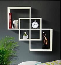 Wood Wall Mounted Book Shelf Storage Home Decor Ledge Black Floating Display New
