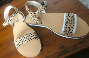 Naughty Monkey Size 10 Ankle Strap Animal Sandals Rrp $45 Sell $35