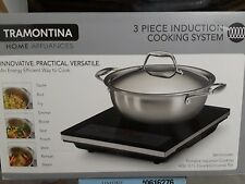 Tramontina 3 Piece Induction Cooking System Tri-Ply Clad Construction