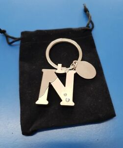 Personalised Initial N Letter Keyring | Engraved Message Tag | Nikki Nicola Gift