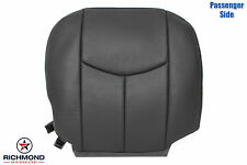 03-06 Chevy Avalanche 2500 LT-Passenger Side Bottom Leather Seat Cover Dark Gray