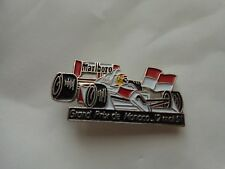 1991 VINTAGE AYRTON SENNA 1991 MONACO GP WINNER F1 ENAMEL CAR PIN BADGE MARLBORO