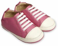 Old Soles Eazy Tread Fuchsia/White, age 3-6 months size 1 Brand New Leather