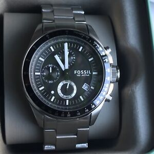 Fossil 10 ATM Champions Watch Original Box And Booklet