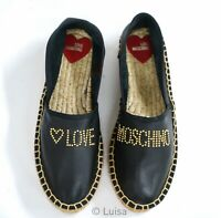 New in Box Love Moschino Ladies Black Espadrille JA10163