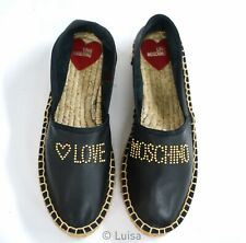 New in Box Love Moschino Ladies Black Espadrille JA10163