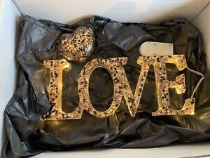Handmade Resin Light Up Love Sign - Made To Order