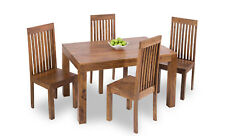 Sheesham Indian Wood Light Brown Dinning Table and 4 Chair Set