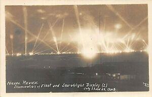 POSTCARD SHIPS - NAVAL REVIEW 1924 - ILLUMINATION OF FLEET