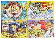 SET OF 4 CHILDREN'S PICTURE STORY BOOKS. BABY - EARLY PRIMARY SCHOOL READING.