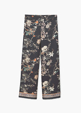 NWT Mango MNG Womens Flowy printed trousers - Birds Large / Medium  SOLD OUT