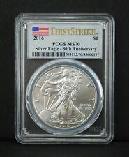2016 $1 Silver Eagle Dollar 1 oz - First Strike 30th Anniversary - PCGS MS70