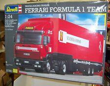 1:24 REVELL SCUDERIA FERRARI FORMULA 1 TEAM TRANSPORT HAULER RACING TRAILER 7561