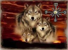 Wolf wall clock   Makes gr8 gifts Handmade