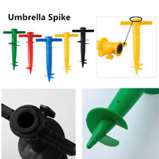 Heavy Duty Plastic Beach Umbrella Anchor Stand Spike Auger Holder Fishing Pole