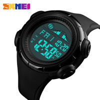 Military Men's Luminous Digital Large Screen  Countdown Alarm Sport Wrist Watch