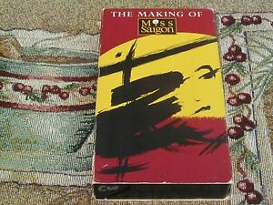 RARE~MAKING OF MISS SAIGON~VHS~HBO HOME VIDEO~CAMERON MACKINTOSH~THE HEAT IS ON~