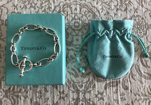 Tiffany & Co Paloma Picasso Sterling Silver 925 Groove Link Toggle Bracelet