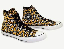 c4f3cf50c409 Womens Boys CONVERSE All Star ANIMAL LEOPARD High Top Trainers Boots UK  SIZE 3.5