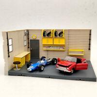 1/2/4 PCS 1:43 Scale Aurora Garage Diorama Scene Model (not include model cars)