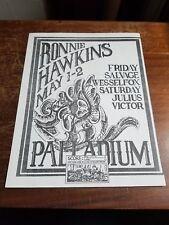 Ronnie Hawkins / Salvage ORIGINAL DETROIT FLYER ROCK May 1 & 2 1970 @ Palladium