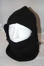 Fleece Balaclava One Piece Outdoor Ski Hood Neck Gaiter Snow Mask in Black