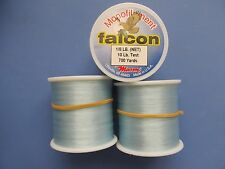 3 Spools of Falcon Monofilament Fishing Line 10 Lb. Test 3-700 yard spools New