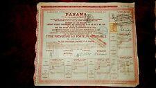 lot de 8 emprunts du canal interocéanique de Panama 1888