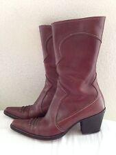 Duccio Del Duca Mid Calf Western Boots 37 US 7 Italy