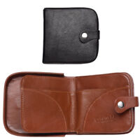 Mens Gents Genuine Leather Loose Change Coin Holder Wallet Purse Black Tan