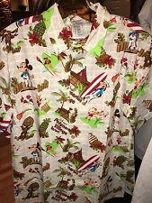 New Disney Parks Polynesian Resort Dole Whip Mickey Mouse Hawaiian Shirt XL
