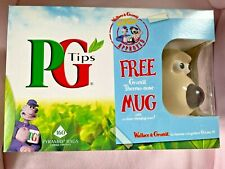 More details for wallace & gromit thermo-nose mug  + pg tips box inc tea bags sealed  2005 exc