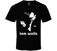 Tom Waits cover album smoke shirt black white tshirt men's free shipping