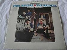 PAUL REVERE & THE RAIDERS JUST LIKE US WHERE THE ACTION IS VINYL LP ALBUM 1966