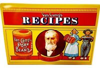 "1986 Van Camp's Pork & Beans Collectible Tin Limited Edition 3"" x 5"" Recipe Box"