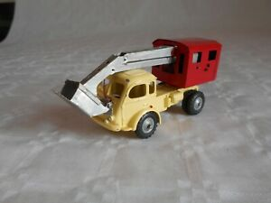 CIJ toys renault truck with excavator 1950s french restored