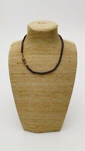 antikes GRANAT Perlen COLLIER alter Granatschmuck Böhmen old garnet necklace