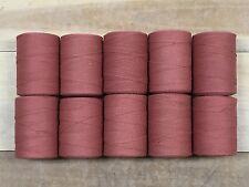 Rug Warp - Lot of 10 spools - 8/4 Cotton / Polyester Blend - Color Terra Cotta