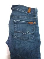 7 For All Mankind Women's Dark Wash Roxanne Straight Leg Denim Jeans 24 x 30 EUC