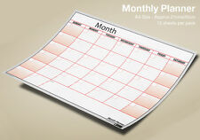 Mensili Planner parete mese Planner A4 x 12 FOGLI, ogni mese, qualsiasi anno! ✔ 100% UK