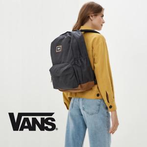 Vans Realm Plus Backpack - Gray Heather Brown Suede Bottom -- School Laptop Bag