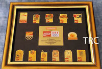 1992 COCA-COLA PHAR MOR LIMITED EDITION OLYMPIC GAMES PIN SET IN FRAME!